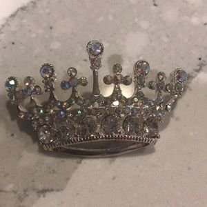 Jewelry - Crown tiara pin brooch crystal sparkly pageant
